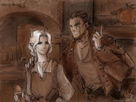 DreamGAU -in pub (collab) by Lucithea