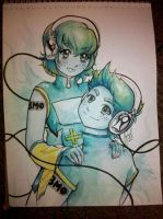 BMO Vocaloid Twins by MinishCapsLock