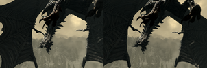 Alduin Stereo Pair by RedRag2000