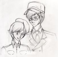 Sketch - Sweden and Finland by katiewhy
