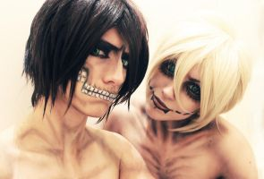 Titan from shingeki no kyojin by ShivaZaSkandara