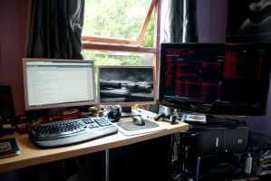 My Desk July 2011 by dxd