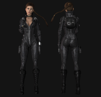 Lara 2013 catsuit, wip2 by tombraider4ever