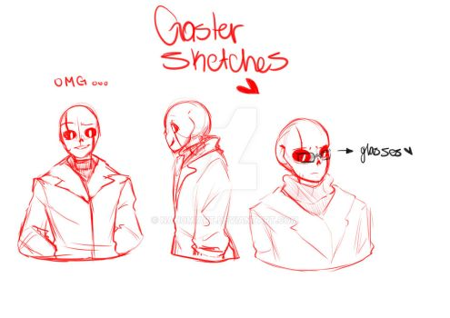 Gaster sketches by nahomiart
