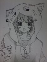 anime w/ hoodie! by Jhennica0987654321