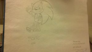 Sonic sketch! by darksonicsoul