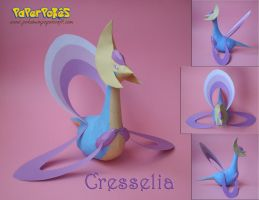 Cresselia Papercraft by Olber-Correa