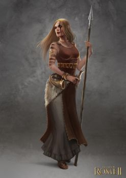 Total War: Rome II - Germanic Female Champion by telthona