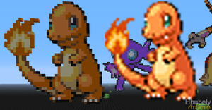 Charmander - Minecraft Art by HbubelyArtForms