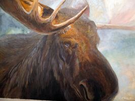 Gouache Moose by Hagge
