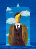 Surrealist Magritte TARDIS by Umanimo
