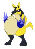 Sumo Lucario by Kuzooma