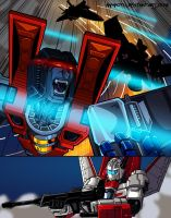 jetfire vs starscream 03 by Ammotu