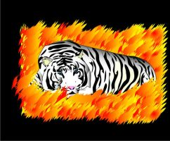 Flame Tiger by vrgraphics