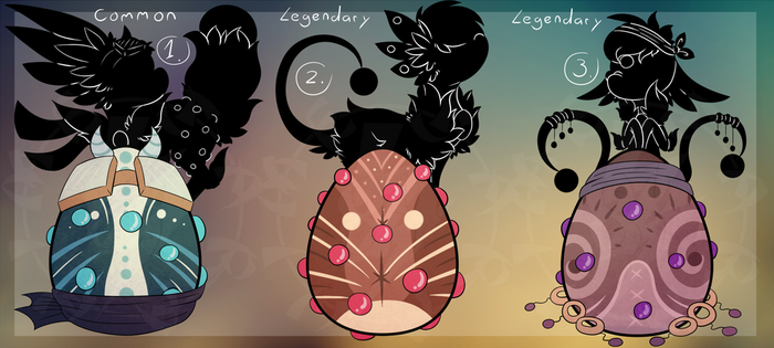 Nermil Egg Adopts (Auction CLOSED) by HimeAdoptions