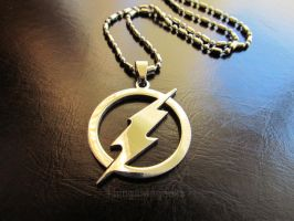 The Fastest Man Alive - Flash Inspired Necklace by thingamajik
