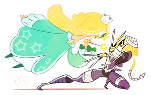 Princess Brawl 2 - Rosalina and Sheik by FlashBros