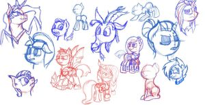 Sketch sheet 1 by Alarious