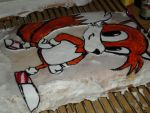 tails cake progress by toastles
