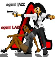 Agent Lake and Agent Jazz by theonejanitor