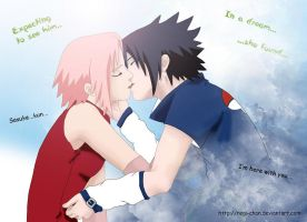 Sasusaku... colour by Regi-chan