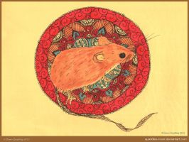 Year Of the Rat Mandala by Quaddles-Roost