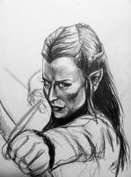 Tauriel quick sketch by Michi1223