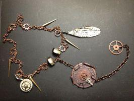 SteamPunk Lost in Time Necklace by SilverEmeralds