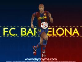 FC Barcelona Thierry Henry by akyanyme