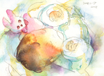 Watercolor: My baby by muttiy