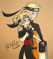Commission: Naruto And Temari by PoOfyPink