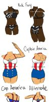 Captain America and Nick Fury Swimsuits by ccRask