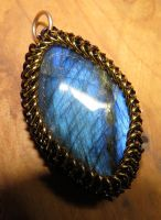 Maille wrapped labradorite by SarahTheSlightlyMad