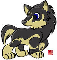 Chibi Wolf Link by lionheart214