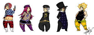 Assorted JJBA Chibis by Squidbiscuit