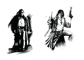 Dracula and Solomon Kane by hllmete
