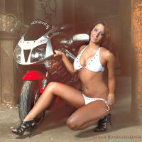 Ashley and Bike by SREphoto