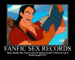 Gaston Reads Fanfic Sex Record by LivingShadowDarkMark