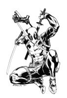 Deadpool sketch by RobertAtkins