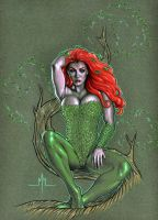Poison Ivy in Tree by MMcDArt