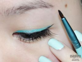 Fun Teal Eyeliner by MissMMayhem