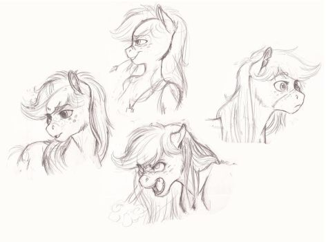 Applejack Expressions by Earthsong9405
