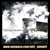 Grunge Brushes I by bizkitfan