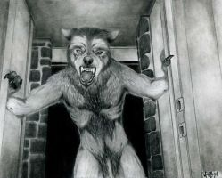 Werewolf in the Doorway by WolfBoy-J
