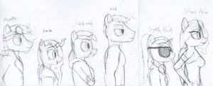 Those anthro pony lads and lasses by Stormbadger