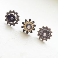 Steampunk Gears Stud Earrings by NBetween