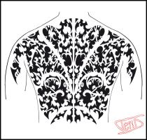 Polynesian Back piece by ScribblingTend