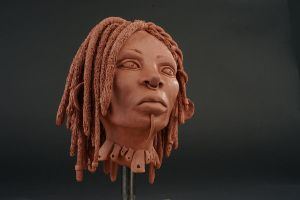 Warrior Woman Sculpture by Anesthetic-X