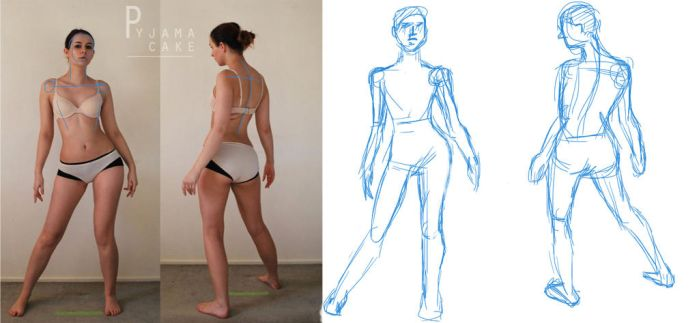 Character Design: BUILDING THE FIGURE by Creative-Chocolate
