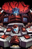 Transformers MTMTE #10 cover colors by khaamar